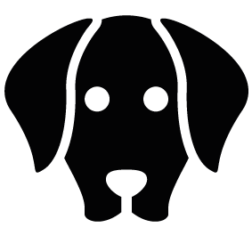 Dog head silhouette png - photo#25