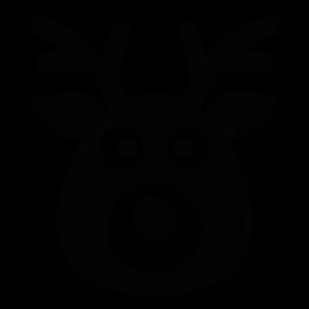 Reindeer head silhouette silhouette of reindeer head reindeer head