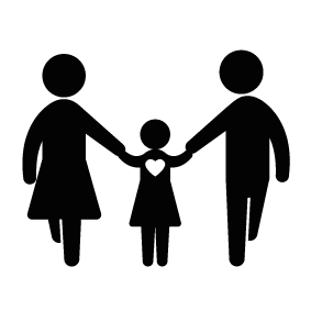 father mother and daughter download silhouette