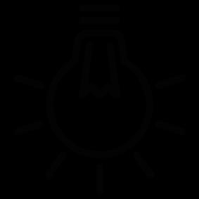 Light Bulb Silhouette | Silhouette of Light Bulb